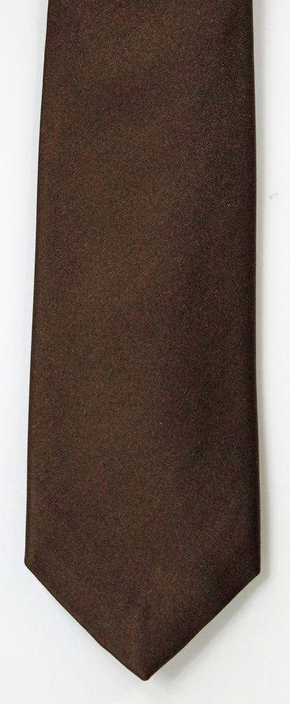 SERICA SILK BROWN TIE