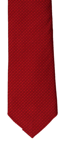 SERICA SILK RED TEXTURED TIE