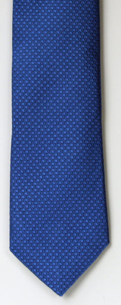 SERICA SILK MID BLUE TEXTURED TIE