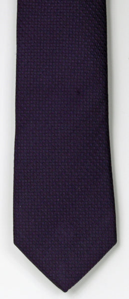 SERICA SILK PURPLE TEXTURED TIE