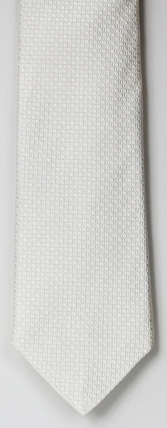 SERICA SILK WHITE TEXTURED TIE