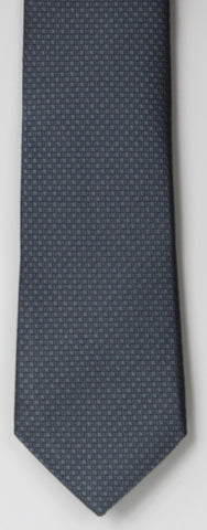 SERICA SILK GREY TEXTURED TIE