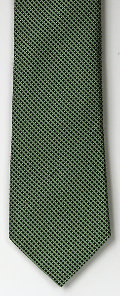 SERICA SILK GREEN/BLACK MICRO CHECK TIE