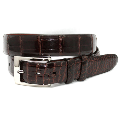 American Alligator Brown 30mm Belt