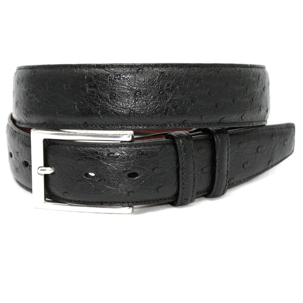 Quilled Ostrich Black 35mm Belt