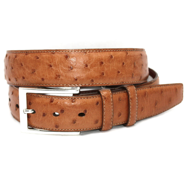Quilled Ostrich Saddle 35mm Belt