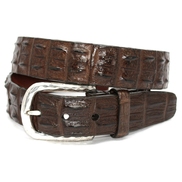 Hornback Crocodile Brown 35mm Belt