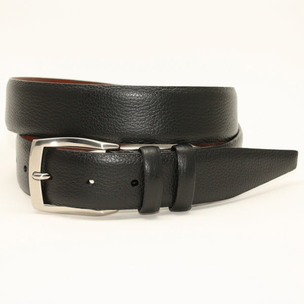 Pebble Grained Calfskin Black 35mm Belt