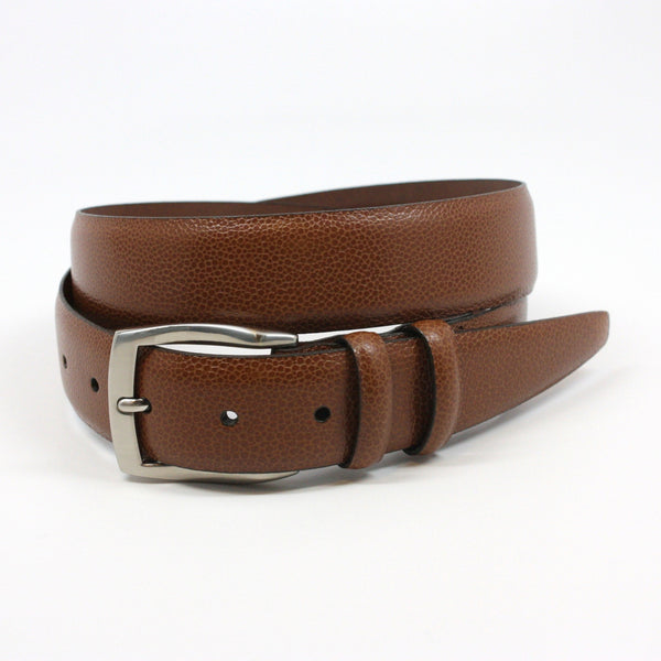 Pebble Grained Calfskin Cognac 35mm Belt