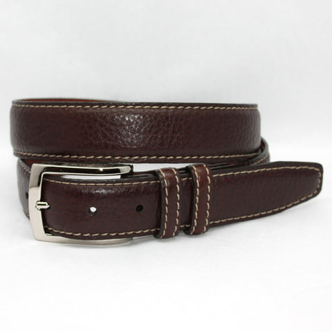 European Sueded Calfskin Brown 38mm Belt