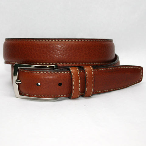 Italian Ribbed Kipskin Black 35mm Belt
