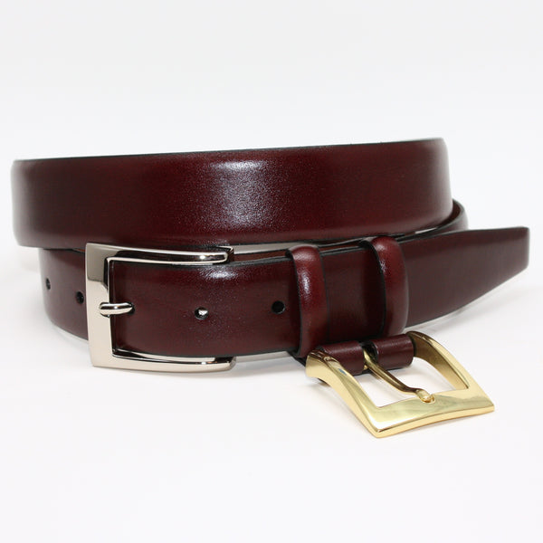 Italian Calfskin Double Buckle Cordovan 32mm Belt
