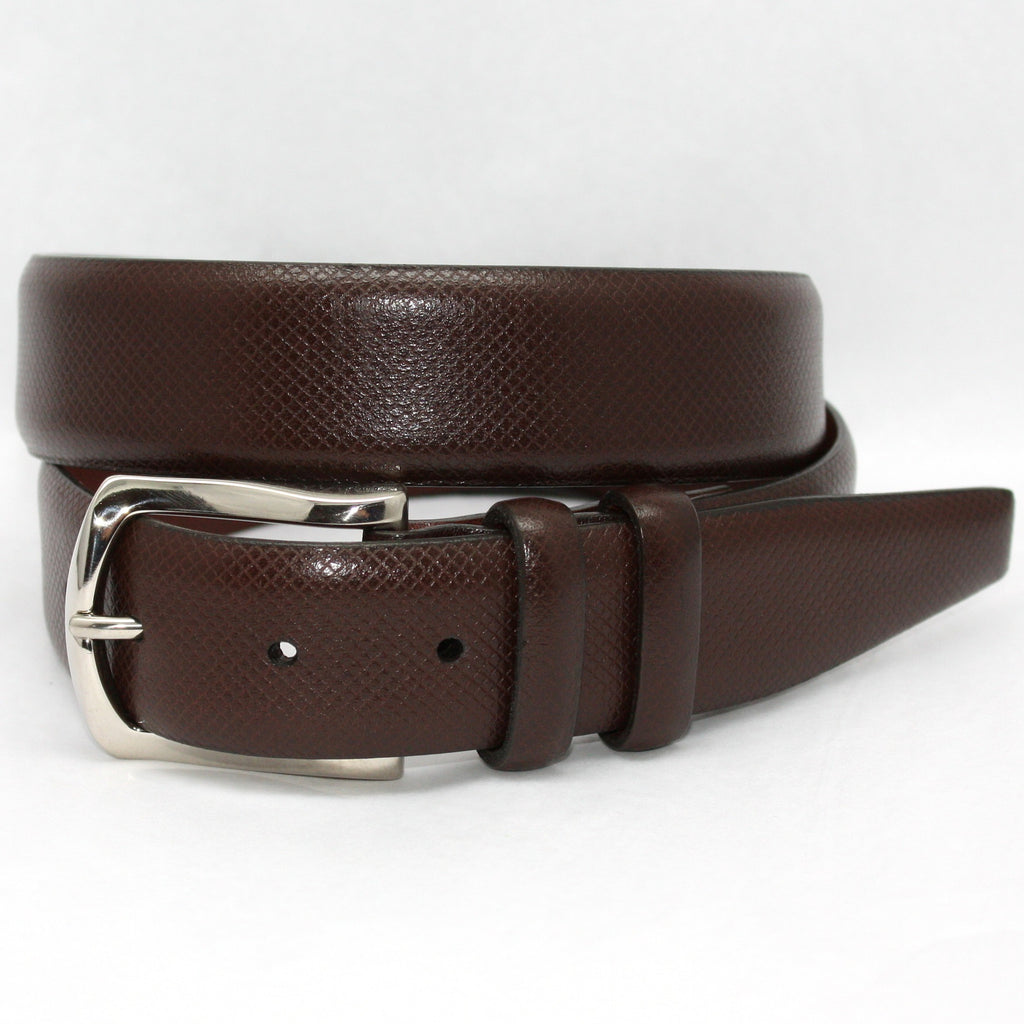 Italian Bulgaro Calfskin Brown 35mm Belt - Blue Lion Men's Apparel