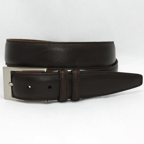 Soft Deertan Glove Leather Brown 35mm Belt