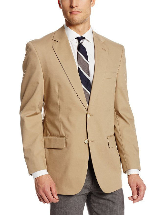 Palm Beach Bradley Khaki Poplin Suit Separate Jacket - Blue Lion Men's Apparel - 1