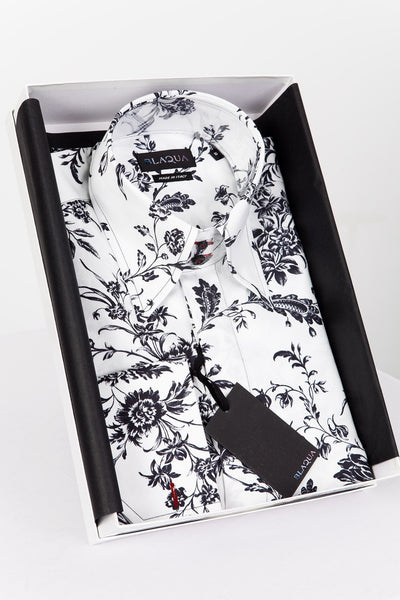 BLAQUA FLEMING PRINT SHIRT