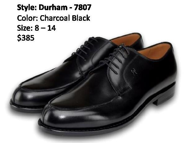 DURHAM DERBY SPLIT TOE CHARCOAL BLACK