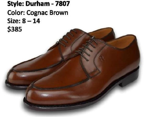 DURHAM DERBY SPLIT TOE COGNAC BROWN