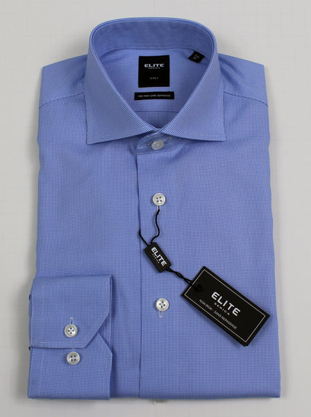 SERICA ELITE SLIM MID BLUE MICRO GINGHAM