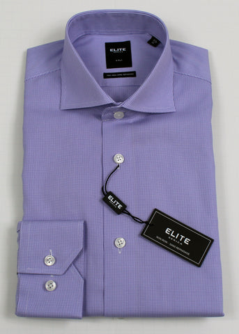 SERICA ELITE SLIM PURPLE MICRO GINGHAM