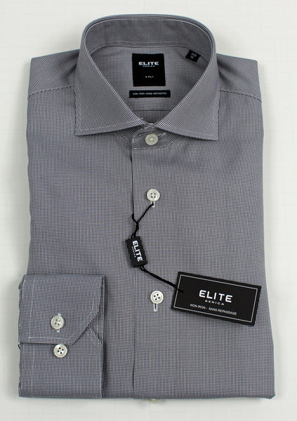 SERICA ELITE SLIM GREY MICRO GINGHAM