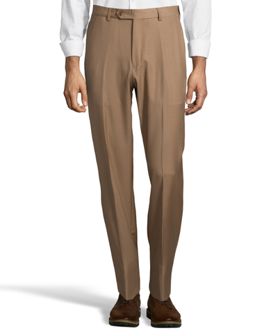 Palm Beach Executive Camel Plain Front Expander Pant