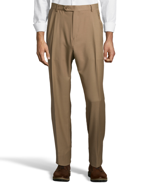Palm Beach Executive Camel Pleat Expander Pant
