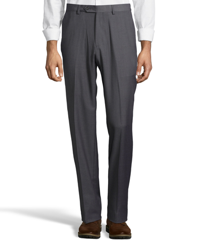 Palm Beach Wool/Poly Md Grey Flat Front Expander Pant