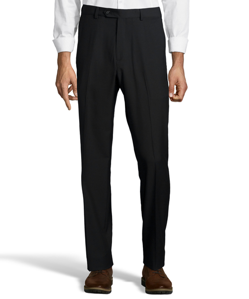 Palm Beach Executive Black Plain Front Expander Pant