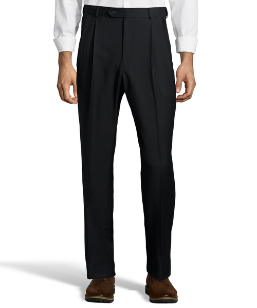 Palm Beach Executive Black Pleat Expander Pant
