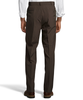 Palm Beach Wool/Poly Brown Pleated Expander Pant Big And Tall
