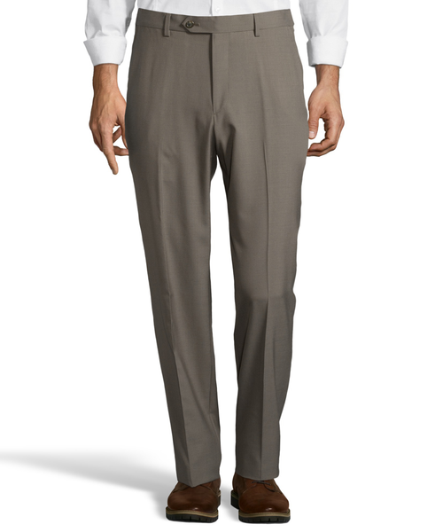 Palm Beach Wool/Poly Olive Flat Front Expander Pant