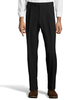 Palm Beach Wool/Poly Black Pleated Expander Pant Big And Tall