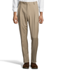 Palm Beach 100% Wool Gabardine Tan Pleated Pant Big and Tall