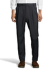 Palm Beach 100% Wool Gabardine Charcoal Pleated Pant Big and Tall