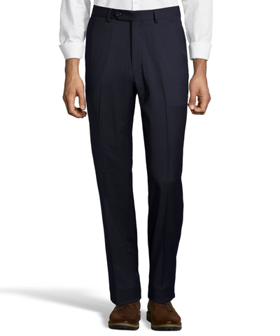 Palm Beach 100% Wool Gabardine Navy Flat Front Pant