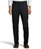Palm Beach 100% Wool Gabardine Black Flat Front Pant Big and Tall