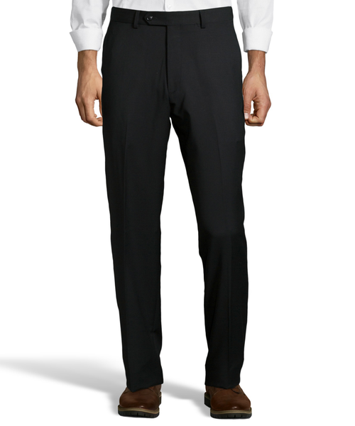 Palm Beach 100% Wool Gabardine Black Flat Front Pant