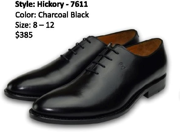 HICKORY OXFORD WHOLECUT CHARCOAL BLACK