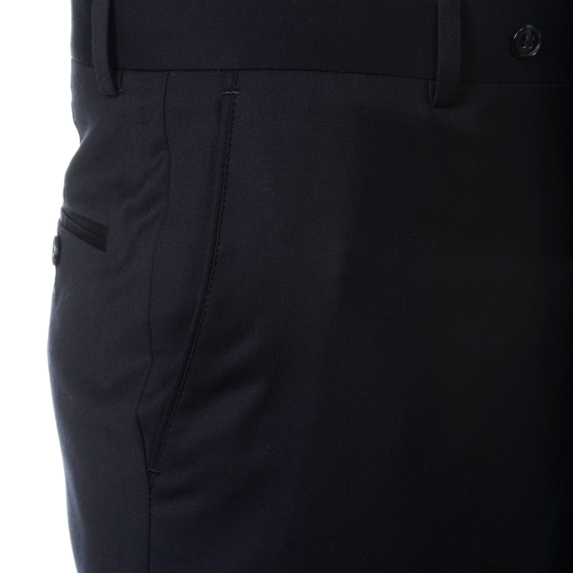 Palm Beach 100/% Wool Gabardine Black Pleated Pant Closeout