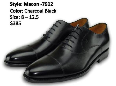 MACON OXFORD CAP TOE CHARCOAL BLACK