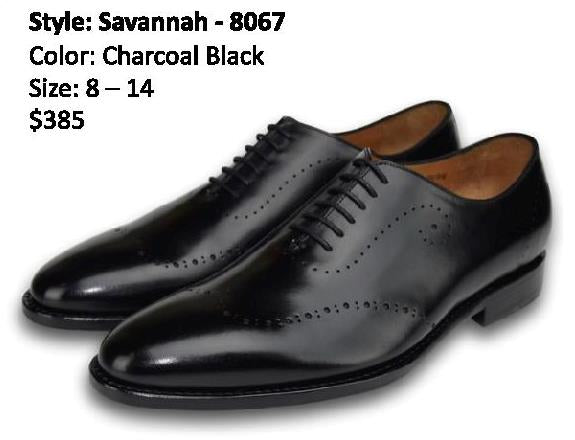 SAVANNAH OXFORD WHOLECUT CHARCOAL BLACK