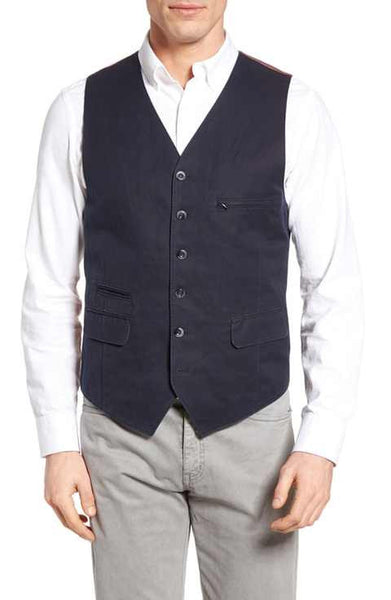 KROON HOOTIE NAVY VEST