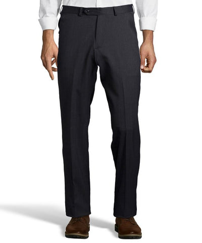 Palm Beach Chairman Charcoal Stripe Plain Front Pant
