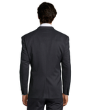 Palm Beach Chairman Charcoal Stripe Suit Jacket - Blue Lion Men's Apparel - 2