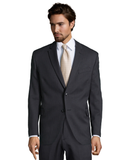 Palm Beach Chairman Charcoal Stripe Suit Jacket - Blue Lion Men's Apparel - 1