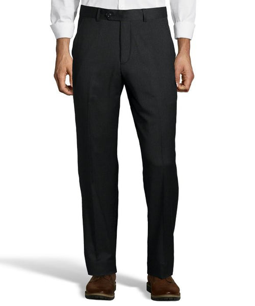 Palm Beach 100% Wool Charcoal Plain Front Suit Pant