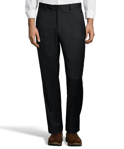 Palm Beach 100% Wool Black Plain Front Suit Pant