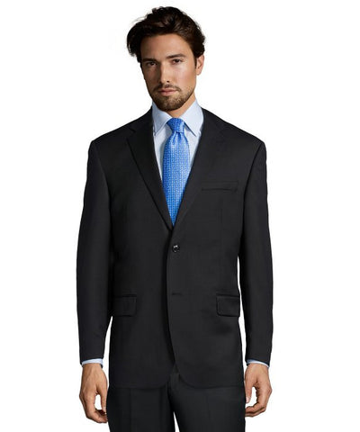 Palm Beach 100% Wool Black Suit Jacket