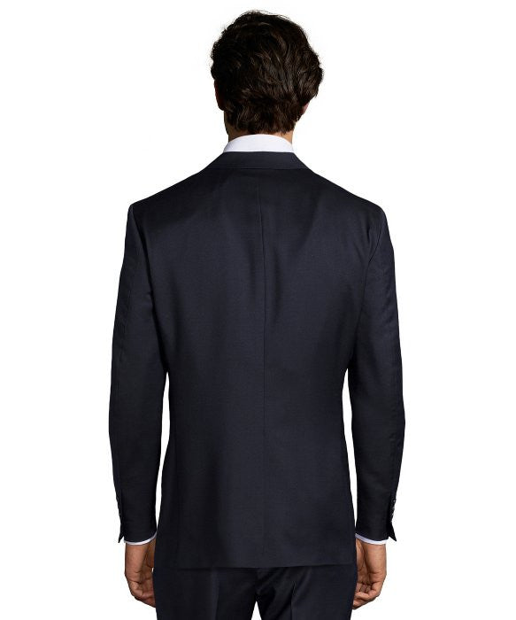 Palm Beach 100% Wool Navy Suit Jacket - Blue Lion Men's Apparel - 2